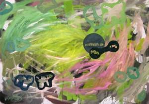 Michael Goller: Im Juli im Atelier gemaltes Bild.